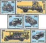 Prophila Collection Svezia 1118-1123 (Completa Edizione) 1980 Automotive (Francobolli per i Collezionisti) Fuoco / Polizia