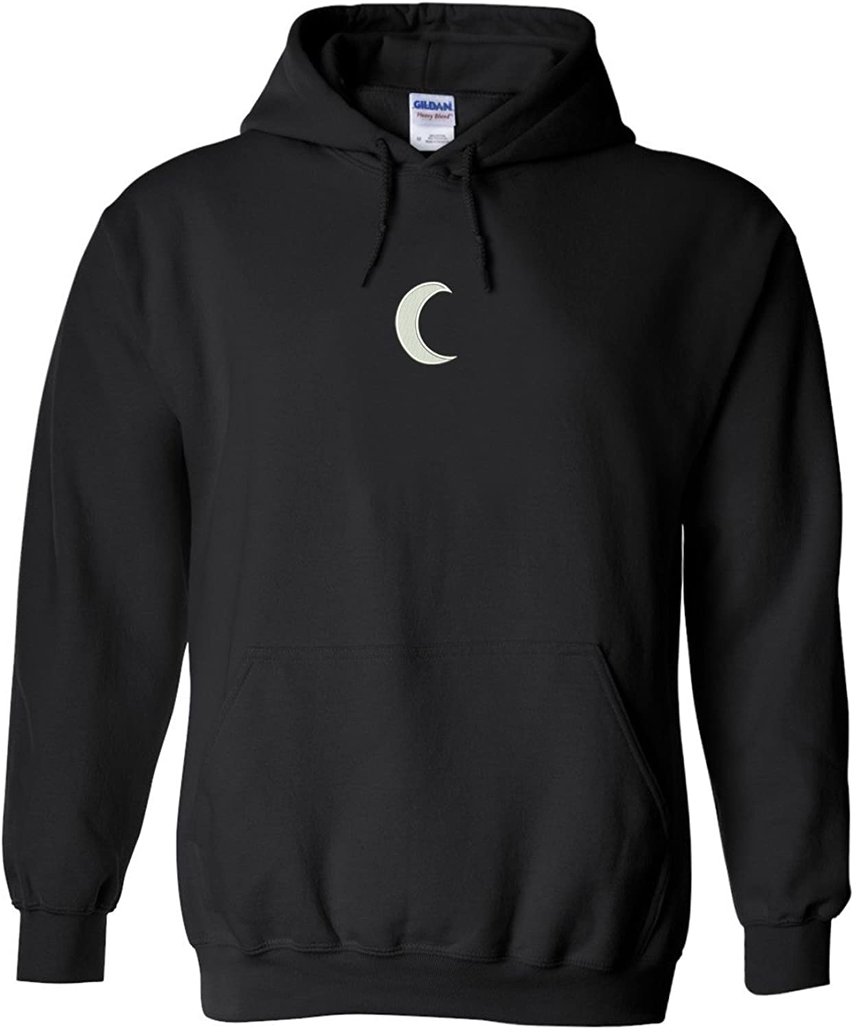Trendy Apparel Shop Crescent Moon Embroidered Heavy Blend Hoodie