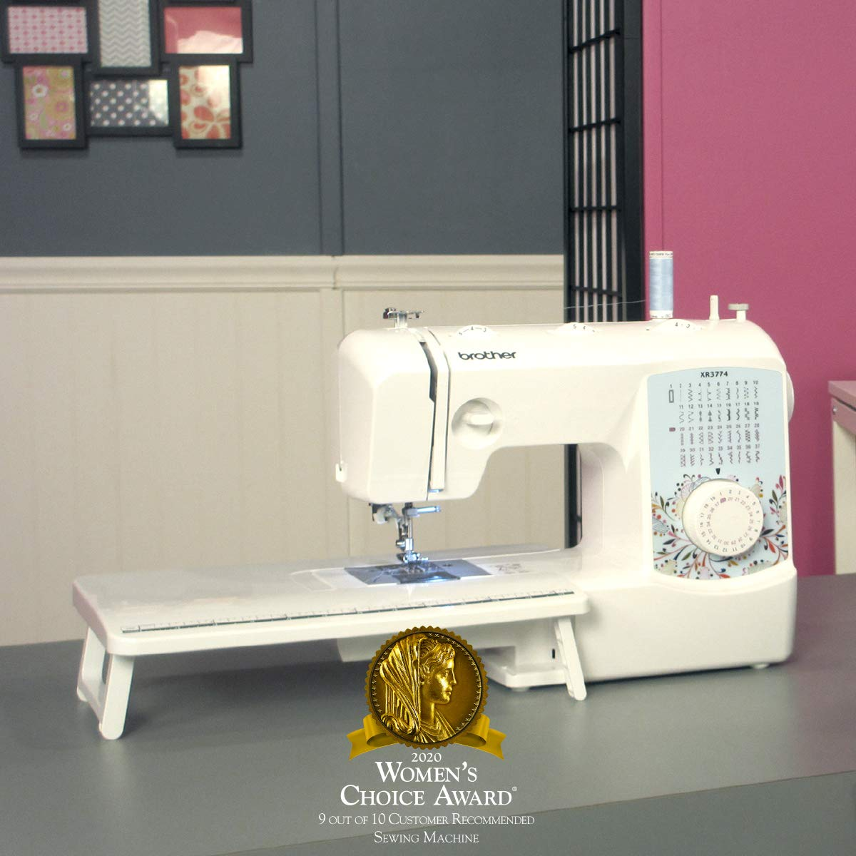 Brother XR3774 Full-Featured Sewing and Quilting Machine with 37 Stitches, 8 Sewing Feet, Wide Table, and Instructional DVD by Brother: Amazon.es: Hogar