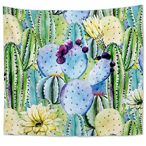 KHKJ Tapiz de Plantas Tropicales de Cilected, Tapiz para Colgar en la Pared, Tapiz con Estampado de Hojas de plátano y Cactus Bohemio, cojín de Toalla de Playa, cojín A13 150x130cm