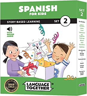 Spanish for Kids: 10 Early Beginner Reader Books with Online Audio and English (Set 2)