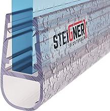 STEIGNER douchestrip, 200cm, glasdikte 6/7/ 8 mm, recht, pvc, vervangende afdichting voor douches, UK07