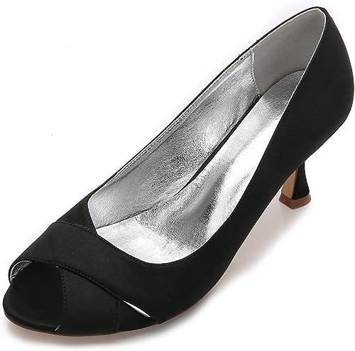 Zxstz Femmes Les Les Les dames Bloc Tacco Alto cinturino Alla caviglia Peep Toe Sandali Parti Chaussures de Travail Pompes  gros prix discount