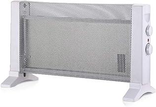 HAEGER MICA HEATER - Calefactor Radiador de Mica con 600W de potencia, 2 velocidades - termostato regulable, con configuraciones de calor de 300W o 600W, protección contra el sobrecalentamiento