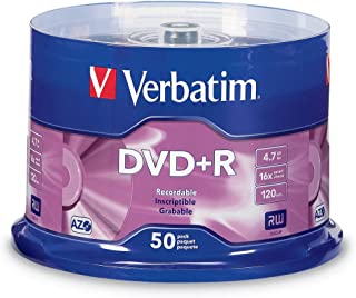 Verbatim 4.7GB up to16x Recordable Disc DVD+R - 50 Disc Spindle 95037