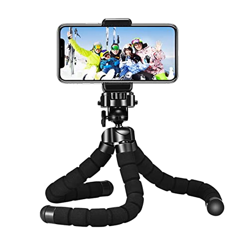 Mpow Flexible Camera Phone Tripod Stabilizer Travel Stand Holder with Bluetooth Remote Shutter for Smartphone & Digital Camera