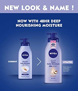 NIVEA Smooth Daily Moisture Body Lotion 16.9 Fluid Ounce - Buy Packs and Save (Pack of 2)