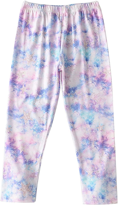 Agoky Big Girls Stretchy Waist Capri Dye Tie Gymnastic Overseas Free shipping parallel import regular item Leggings