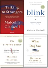 Malcolm Gladwell 4 Books Collection Set (Talking to Strangers [Hardback] , Blink, The Tipping Point, What the Dog Saw)
