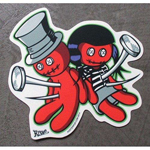 hotrodspirit Sticker Puppe Vaudou Nagel selbstklebend Rockabilly