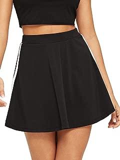 WDIRARA Faldas de Verano con Cintura Alta y línea A para Mujer