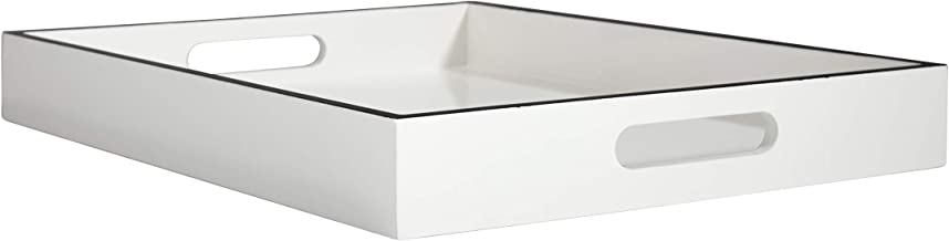 Now House by Jonathan Adler Chroma Lacquer Rectangular Tray, White