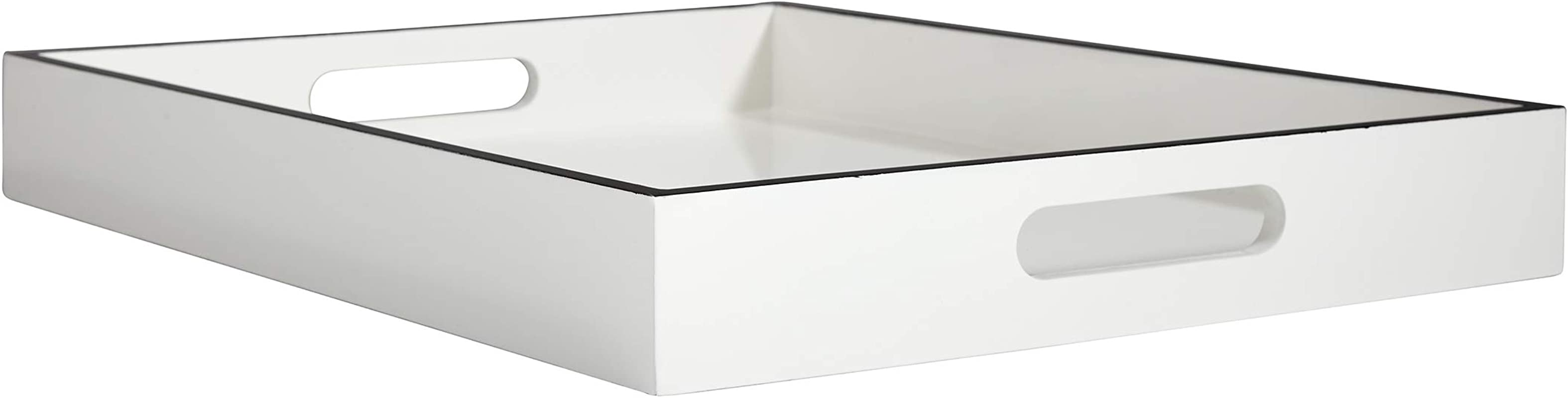 Now House By Jonathan Adler Chroma Lacquer Rectangular Tray White