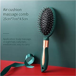 ZHEMAIE Frisörkam hårborstar hårkam utjämningsborste luftkudde kam antistatisk huvud massage salong frisör stylingverktyg...