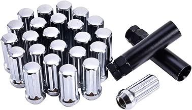 Younar 24PCS 14x2 Chrome Long Spline Lug Nuts with Socket Key for 2015-2019 Ford F-150