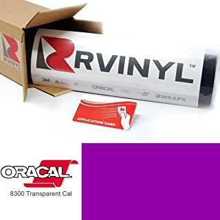 ORACAL 8300 Violet 040 Transparent Calendered Film 2ft x 6ft W/Application Card Vinyl Film Sheet Roll - for Cricut, Silhouette Cameo, Craft and Sign Cutters