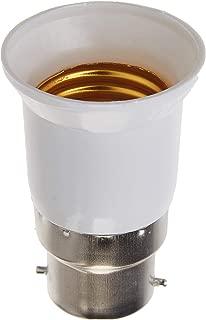 AWE-LIGHT B22 to E27 E26 Light Socket Adapter Converter Base for LED Light Bulb Lamp, 6-Pack