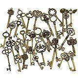 40 Unids Llaves Esqueleto de Bronce Antiguo de la vendimia Encantos Kits de BRICOLAJE para Accesorios Hechos A Mano Collar Colgantes Fabricación de Joyas
