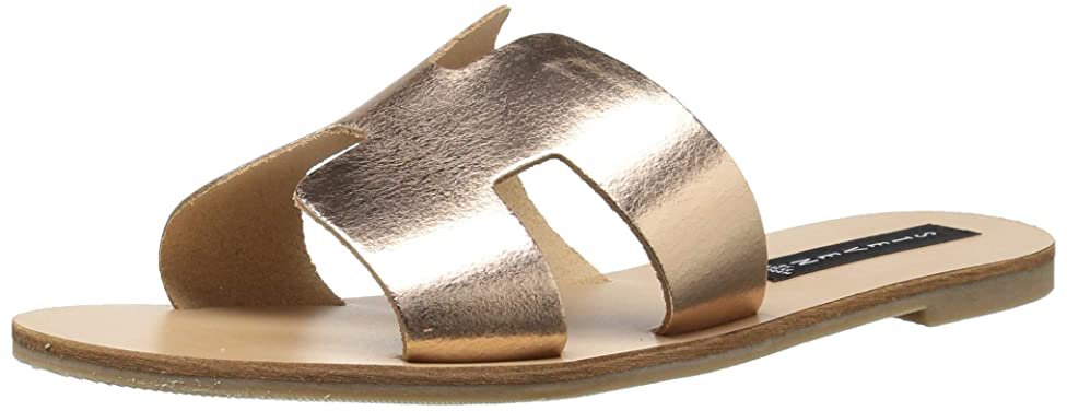 Steve Madden Women's Greece Flat Sandal, Rose Gold, 7 M US