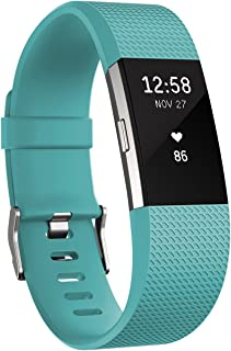 Fitbit Charge 2 Heart Rate & Fitness Wristband, Teal, Large