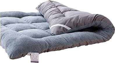 Tatami Mattress Plush, Japanese Tatami Mat Foldable Comfort Portable Folding Single Double Bed Soft and Breathable for Stu...