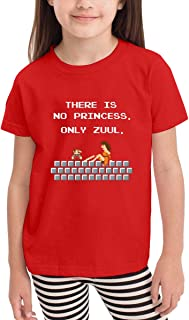 There Is No Princess Only Zuul Soft And Cozy Cotton Childrens T-shirt In 6 Colors Sizes: 2T 3T 4T 5T 6T