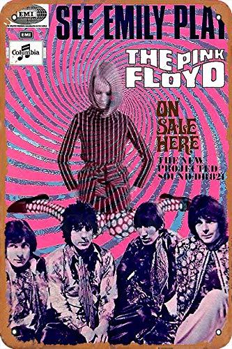 OSONA Pink Folyd See Emily Play Here Retro nostálgico arte tradicional color óxido logotipo de lata publicidad llamativa decoración de la pared regalo