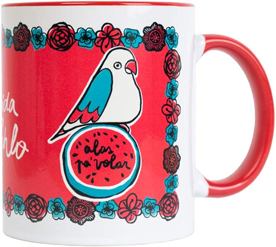 Frida Kahlo Alas Pa Volar Coffee Mug Official Licensed Product Perfect Frida Kahlo Gift For Fans Dishwasher And Microwave Safe 330 Ml