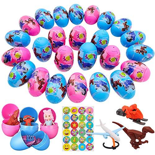 SPECOOL Cumpleaños Partido Sorpresa Juguete, 25 Educativo Piezas Sorpresa Egg Toy para Niños con Diferentes Juguetes para Niños, Pascua de Resurrección Regalo Sorpresa para Chico Niña Fiesta