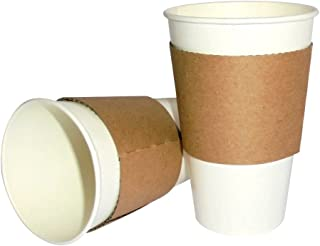 Unidades 100ml vaso blanco 370+ Tira de cartón térmico para Caffe 'The Chocolate y bebidas calientes
