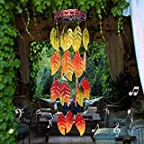 AMWGIMI Outdoor Wind Chimes Garden Decoration Colorful Autumn Leaves Outdoor Decor Hanging Garden, Patio, Balcony Wind Chimes