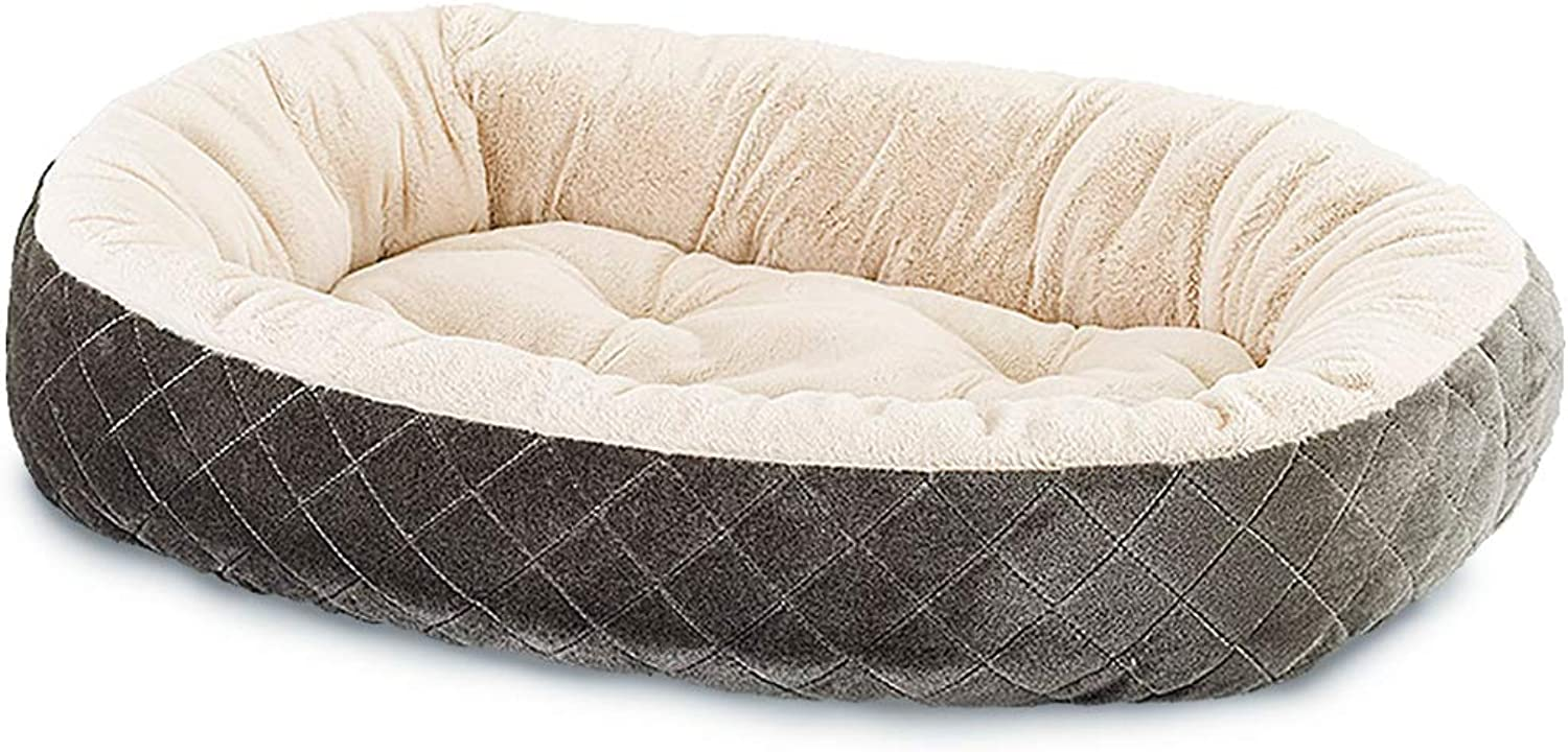 Ethical Pets Sleep Zone Quilted Oval Cuddler Pet Bed