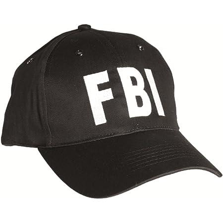 FBI Black Baseball Cap Tactical Hat Special Agent Security Guard