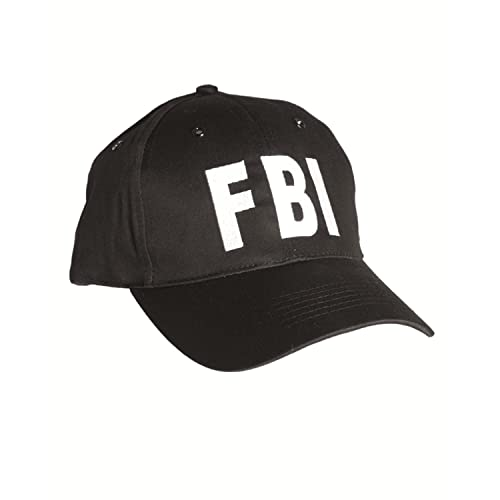 958722e1577 FBI Black Baseball Cap Tactical Hat Special Agent Security Guard