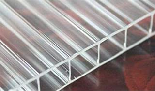 Twin Wall 8mm Polycarbonate Panel, Clear, Strong Impact and Shatterproof, All-Weather Outdoor Greenhouse Covering - 1 Pack...
