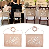 Generic Garland Banner Mr Mrs/Bride Groom Photo Props Chair Signs Photo Booth Wedding Party Decoration 1Pair #87855