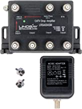4-Port Cable TV/Internet Digital Signal Amplifier/Booster/Splitter with Unity Gain, Modem..