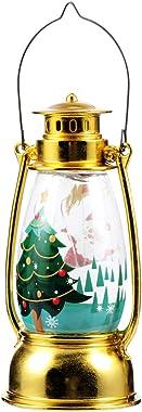 OSALADI Christmas Decorative Lanterns Lighted Up Santa Snow Globe Night Lamp Navitity Scene Hanging Lights for Holiday Tree H