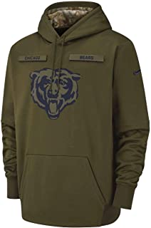 Chicago Bears 2018 NFL Salute to Service Men's STS Therma Hoody (Medium)