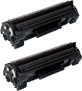 HQ Supplies Premium Compatible Replacements for 2 HP 35A Black Toner, HP CB435A for HP LaserJet P1002, P1003, P1004, P1005, P1006, P1009 Printers