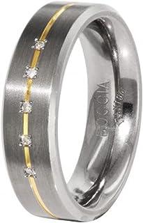 Boccia 女式戒指钛金 5 钻石切割 0.025 01011968