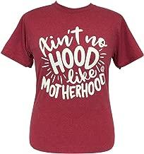 Girlie Girl Ain't No Hood Like Motherhood V-Neck Soft Short Sleeve T-Shirt Adult