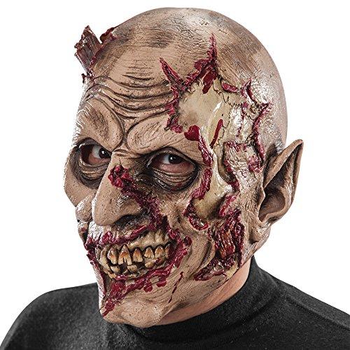 Carnival Toys - Máscara de látex zombi ensangrentado con encabezado, multicolor (737)