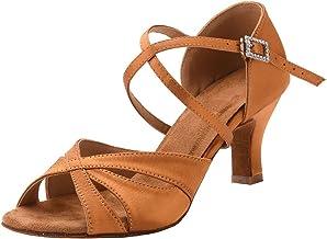 Women's Latin Dance Shoes Female's Ballroom Salsa Dance Shoes with 2.5 Inch Heel