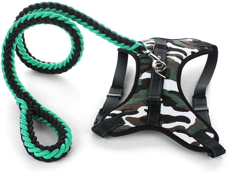 QJKai Dog Leash in Large Dog Chest Strap Dog Chain Collar pet Supplies