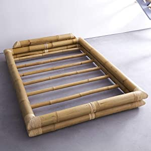 Tikamoon Balyss Lit Futon - Bambou - Beige - 190 x 230 x 40 cm
