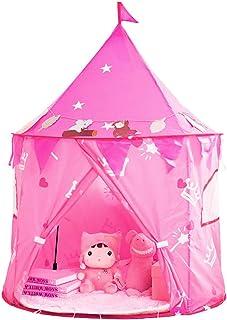 Tiendas de Campaña Niños Princess Pop up Castle Tienda para diversión en Interiores y Exteriores, Tienda Campaña Infantil se pliega cuidadosamente en una Bolsa de Transporte