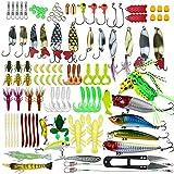 PITAYA 235 Pièces Leurres de Pêche Kit Pêche Leurres Ensembles d'appâts Comprenant Appâts à manivelle Spinner Baits Doux Plastique vers Leurres Pêche Jigs Pêche Crochets avec Tacle Boîte