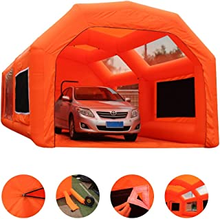 Inflatable Paint Booth Mobile Automotive Portable Spray Booths DIY Paint Tent Removable Washable Filter Constant Air Flow (13.1x8.2x8.2 ft)