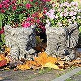 Par de elefantes macetas/diseño de flores maceta...